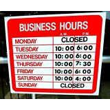 OPEN CLOSED BUSINESS HOURS SIGN Store Static Cling Window New ebay LOWEST PRICE