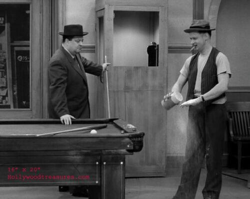 "Jackie Gleason~Honeymooners~Billiards~Playing Pool~Photo~ Poster 16""x20"""