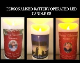 Personalised Battery Operated LED Candle