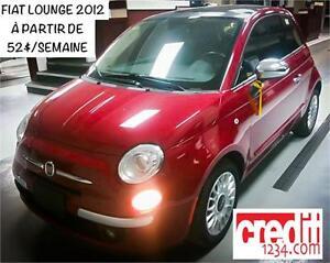2012 FIAT 500 Lounge, À PARTIR DE 52$/SEMAINE 100% APPROUVÉ