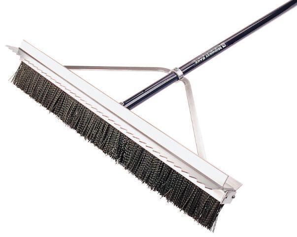 "28"" Double Play Scarifier Broom - 2 Rows"
