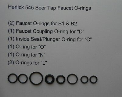 1 O-ring Kit For Perlick 545 Beer Tap Faucet Homebrew O-rings Keg Perlick
