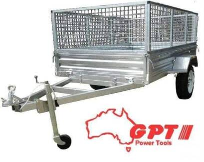 6X4 BOX TRAILER & TIPPER | 900MM CAGE | GALVANISED Campbellfield Hume Area Preview