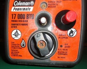 Coleman Powermate Propane Heater Hard To Find 17,000 BTU