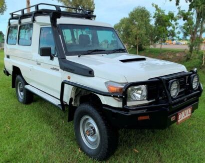 2013 Toyota Landcruiser VDJ78R MY13 Workmate Troopcarrier White 5 Speed Manual Wagon Berrimah Darwin City Preview