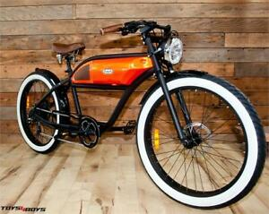 T4B GREASER Cafe Racer Style Electric Bike Bicycle 350W 500W