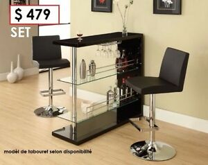 table bar avec 2 taboutes  +  DEMOS EN LIQUIDATION