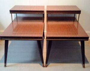 2 Vintage SPACE AGE Side Coffee Tables FREE DELIVERY
