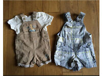 Newborn and 0 to 3 months boys clothes bundle
