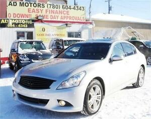 2011 INFINITI G37X AWD NAVIGATION LEATHER SUNROOF 100% FINANCING