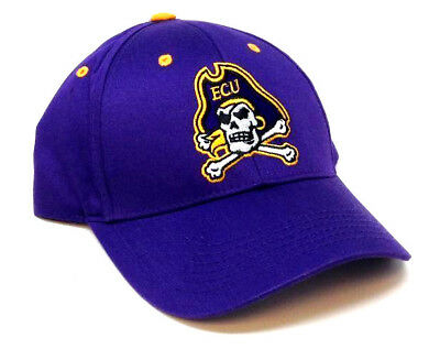 EAST CAROLINA UNIVERSITY ECU PIRATES LOGO PURPLE ADJUSTABLE HAT CAP CURVED BILL ()