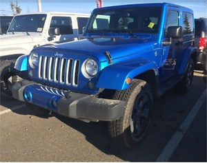 2016 JEEP WRANGLER SAHARA LIMITED WILL GET THE PARTY STARTED !