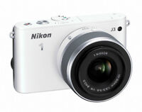BRAND NEW - Nikon 1 J3 (silver) with 11-27mm lens