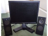 Dell 17 Inch Computer/PC DVI/VGA Monitor Excellent Fully Working Con + Power Cable £10 OR 2 FOR £15
