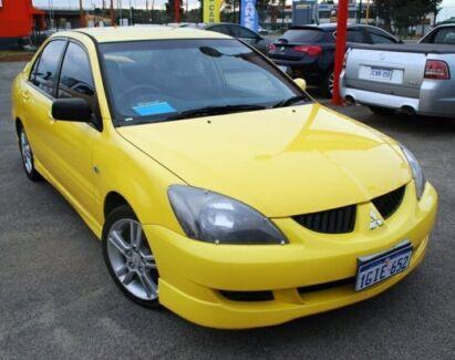 2004 Mitsubishi Lancer CH MY05 VR-X Yellow 5 Speed Manual Sedan