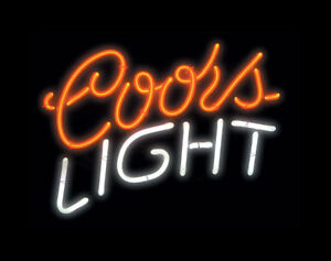 Coors Light Neon Sign.