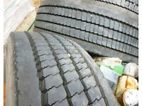 275 x 70 x 22.5 Truck Tyres on 10 x Stud Road Wheels