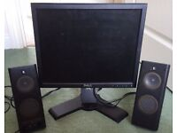 Dell 17 Inch Computer/PC DVI/VGA Monitor Excellent Fully Working Con + Power Cable £15