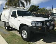 2012 Nissan Patrol MY11 Upgrade DX (4x4) White 5 Speed Manual Leaf Cab Chassis Springwood Logan Area Preview
