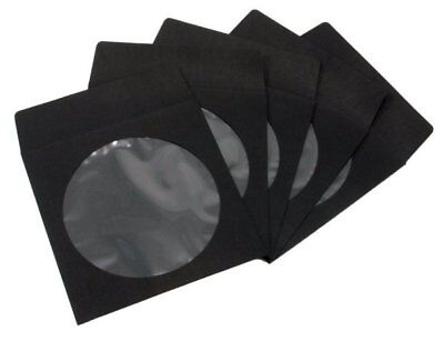 100 Black Color Cd Dvd Paper Sleeve Envelopes
