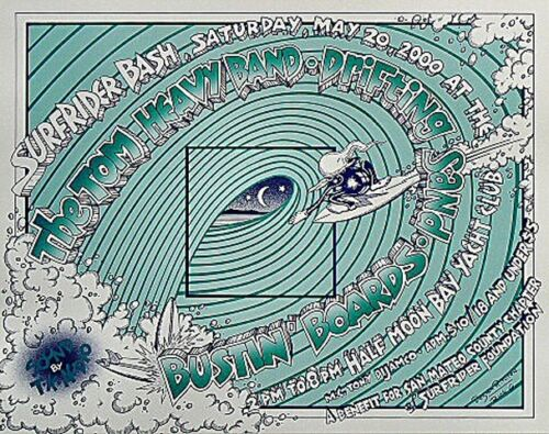 ORIGINAL Rick Griffin & Randy Tuten  SURFRIDER BASH Concert Poster