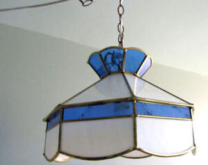 Tiffany-Style Swag/Hanging Lampshade & Cord
