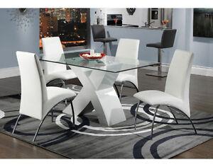 4  New Modern White Chairs