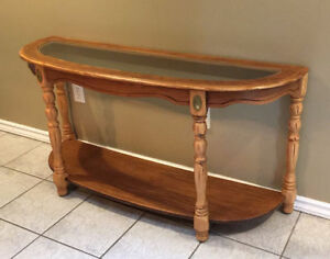 Antique Solid Wood Entrance Table / Sofa Table