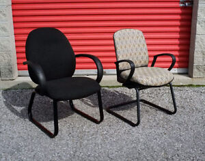 Krug Black & Pattern Office Reception Guest Chairs - 4 Available