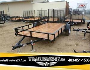 SWS 6.5ft x 12ft Utility Trailer w/4ft Removable mesh gate