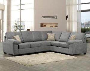 GREY MODERN SECTIONAL ON SALE (ND 86)