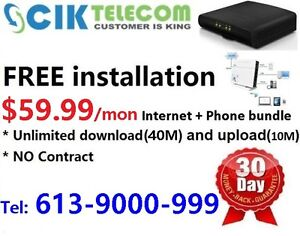 40M unlimited Cable Internet for only $49.99/month,3 months free