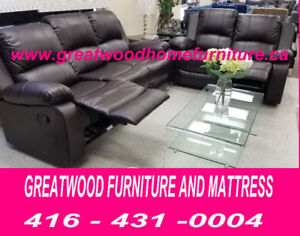 BRAND NEW 3 PIECE RECLINER SET FOR $999 ONLY..LIMITED STOCK !!!!