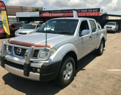 2007 Nissan Navara D40 ST-X DUAL CAB Silver Manual Utility Garbutt Townsville City Preview