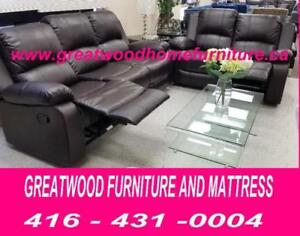 BRAND NEW 3 PIECE RECLINER SET FOR $1099 ONLY..LIMITED STOCK !!!
