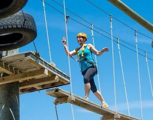 2 Adult tickets for High ropes at Blue Mountain
