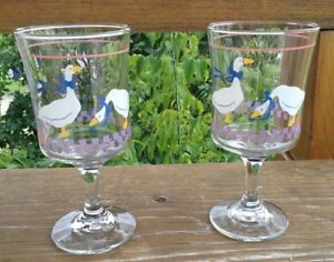 VINTAGE LIBBEY GLASS COUNTRY GOOSEY/GEESE PINK HEART G. Gatineau Ottawa / Gatineau Area image 2
