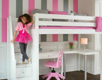 KIDS SOLID-WOON FURNITURE-LOFT BED, BUNK BED DAY BED SPRING SALE