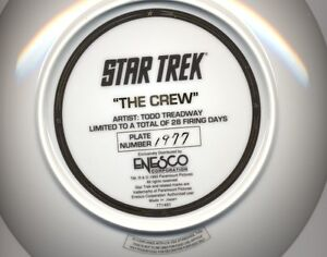 Estate sale: Star Trek limited numbered collectible plates