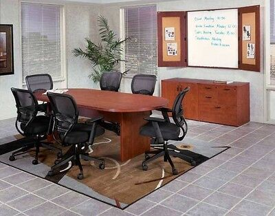 New Amber 6 Racetrack Conferenceboardroommeeting Room Office Table Set