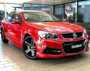 2014 Holden Commodore VF MY15 SV6 Red 6 Speed Sports Automatic Sedan