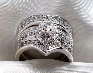 Vintage White CZ Ring Set Now25.00
