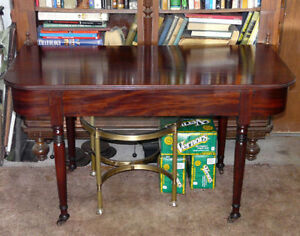 New Price.  Georgian Mahogany D-End Table.  Antique.
