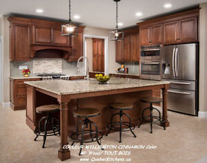 Kitchen Cabinets All-Wood Wellington Cinnamon @ QuebecKitchens