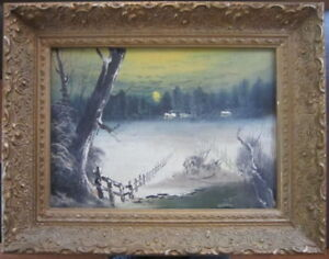 A CANADIAN ARTIST ALFRED CROCKER LEIGHTON OIL ON BOARD SIGNED