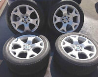"✰✰✰ (4) OEM BMW X5 / X6 / 19"" WHEELS & MICHELINS - STAGGERED"