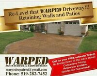 Get your Warped Driveway Level Again....Free Estimates