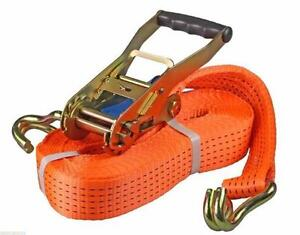 "NEW CASE 10 X RATCHET STRAP 10,000 LBS 2"" CARGO STRAP"