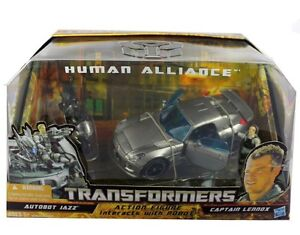 Hasbro Transformers Human Alliance Autobot Jazz + Captain Lennox Car Figure NIB