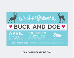 Jack and Jill Stag and Doe Buck and Doe Tickets